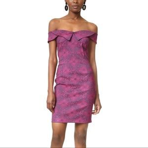 Opening ceremony Purple bodycon off shoulder dress